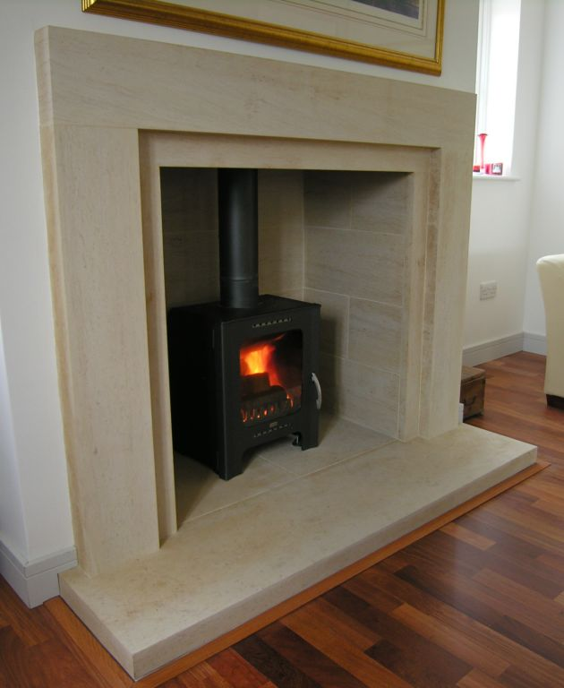 Contemporary Stone Fireplace Surrounds Fireplaces